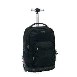 """Rockland 19"""" Rolling Backpack  - Black"""