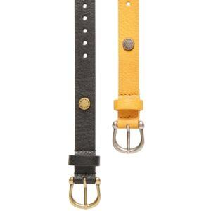 Steve Madden 2-Pk. Single-Prong Belts  - Blk/multi