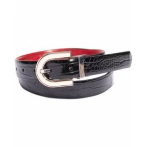 Inc International Concepts Embossed Reversible Belt, Created for Macy's  - Black/Red/Silver