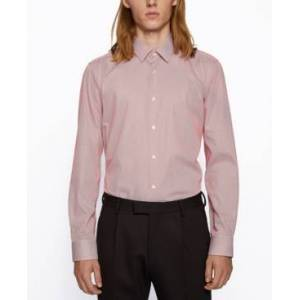 Hugo Boss Boss Men's Eliott Regular-Fit Shirt  - Open Orange
