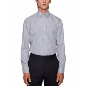 Hugo Boss Boss Men's Jango Slim-Fit Shirt  - Navy