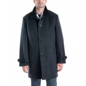 London Fog Men's Clark Classic-Fit Overcoat  - Charcoal