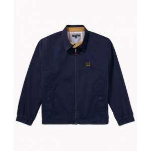 Tommy Hilfiger Adaptive Men's Iconic Re-Issue Yacht Jacket with Magnetic Zipper  - Black Iris