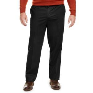 Dockers Men's Big & Tall Signature Lux Cotton Classic Fit Creased Stretch Khaki Pants  - Black
