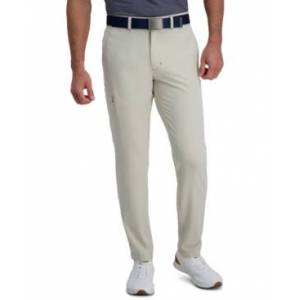 Haggar The Active Series Slim-Straight Fit Flat Front Urban Pant  - Light Beige