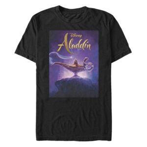 Aladdin Disney Men's Aladdin Live Action Short Release Date Poster Sleeve T-Shirt  - Black