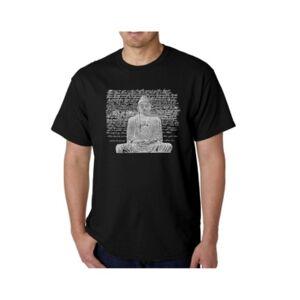 La Pop Art Men's Word Art T-Shirt - Zen Buddha  - Black