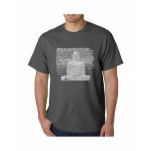 La Pop Art Men's Word Art T-Shirt - Zen Buddha  - Gray