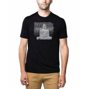 La Pop Art Men's Premium Word Art T-Shirt - Zen Buddha  - Black