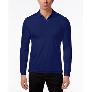 Tasso Elba Men's Supima Blend Long-Sleeve Polo, Created for Macy's  - Navy