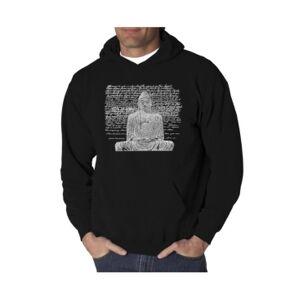La Pop Art Men's Word Art Hooded Sweatshirt - Zen Buddha  - Black