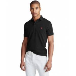 Ralph Lauren Polo Ralph Lauren Men's Custom Slim Fit Mesh Polo  - Polo Black