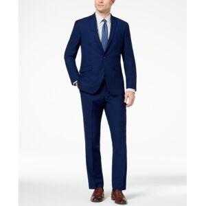 Kenneth Cole Reaction Men's Ready Flex Slim-Fit Stretch Modern Blue Solid Suit  - Blue