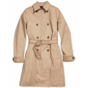 Tommy Hilfiger Adaptive Women's Trench Coat with Magnetic Closure  - Travertine