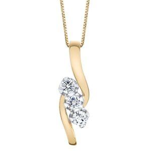 Sirena Diamond (3/8 ct. t.w.) Pendant in 14k Yellow and White Gold