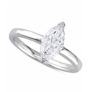 Macy's Diamond Marquise Solitaire Engagement Ring (1 ct. t.w.) in 14k White Gold  - White Gold