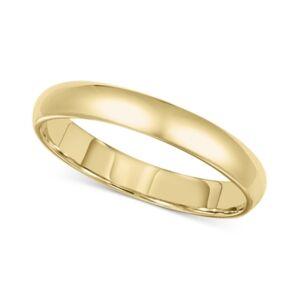Macy's 14k Gold 3mm Wedding Band  - Yellow Gold