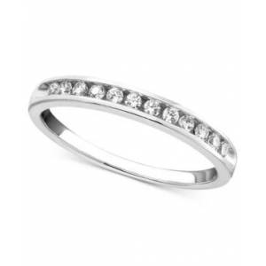 Macy's Diamond Band Ring in 14k Gold or White Gold (1/4 ct. t.w.)  - White Gold