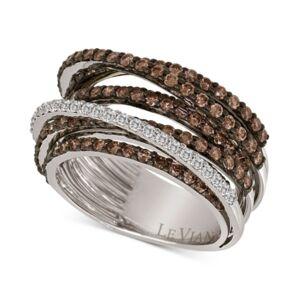 Le Vian Chocolatier Multi-Band Diamond Ring (2-1/3 ct. t.w.) in 14k White Gold  - White Gold