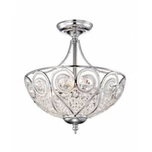 """Home Accessories Raven 13"""" 3-Light Indoor Pendant Lamp with Light Kit  - Chrome"""