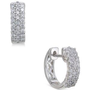 Macy's Diamond Hoop Earrings (1/2 ct. t.w.) in 14k White Gold  - White Gold