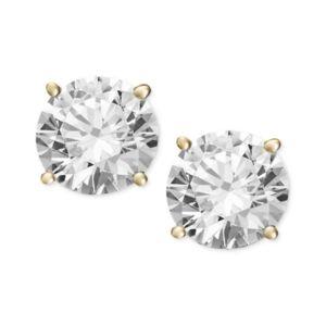 Macy's Certified Diamond Stud Earrings (2 ct. t.w.) in 14k Gold or White Gold  - Yellow Gold