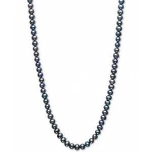 """Macy's Dyed Black Cultured Freshwater Pearl (5mm) 100"""" Endless Strand Necklace  - Black"""