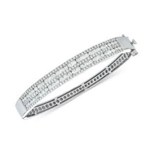 Macy's Diamond Multi-Row Bangle Bracelet (3-1/2 ct. t.w.) in 14k White Gold  - White Gold