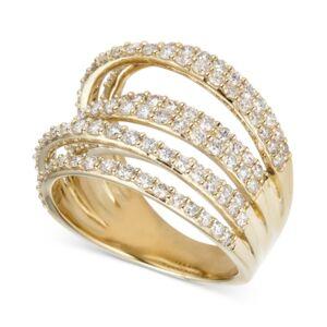 Macy's Diamond Multi-Level Statement Ring (2 ct. t.w.) in 14k Gold  - Yellow Gold