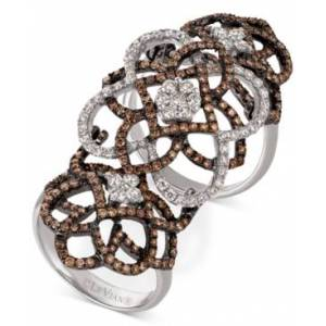 Le Vian Chocolatier Diamond Knuckle Ring (2 ct. t.w.) in 14k White Gold  - White Gold