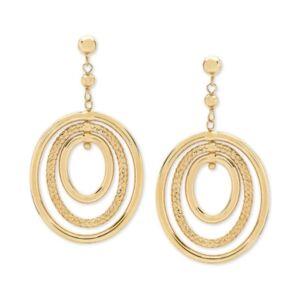 Macy's Oval Orbital Drop Earrings in 10k Gold  - Yellow Gold