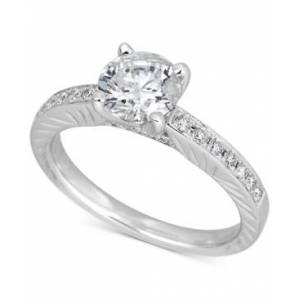 Macy's Diamond Engagement Ring (1-1/2 ct. t.w.) in 14k White Gold  - White Gold