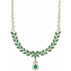 Effy Collection Brasilica by Effy Emerald (11-3/4 ct. t.w.) and Diamond (2-3/4 ct. t.w.) Pendant Necklace in 14k Gold, Created for Macy's  - Emerald
