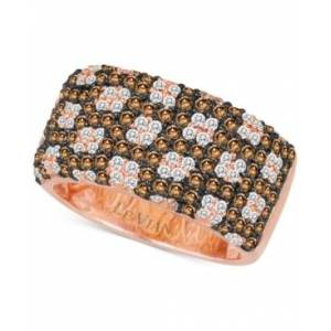 Le Vian Chocolatier Diamond Pave Wide Statement Ring (1-3/8 ct. t.w.) in 14k Rose Gold  - Rose Gold