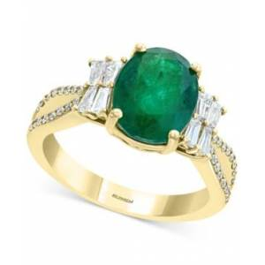 Effy Collection Effy Emerald (2-1/8 ct. t.w.) & Diamond (1/2 ct. t.w.) Statement Ring in 14k Gold  - Emerald