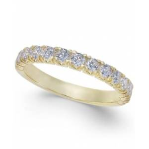 Macy's Pave Diamond Band Ring in 14k Gold or White Gold (3/4 ct. t.w.)  - Yellow Gold