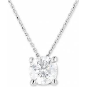 "Macy's Diamond (3/4 ct. t.w.) Solitaire 18"" Pendant Necklace in 14k White Gold  - White Gold"