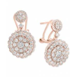 Effy Collection Rock Candy by Effy Diamond Cluster Drop Earrings (2-1/10 ct. t.w.) in 14k White, Rose, or Yellow Gold  - Rose Gold
