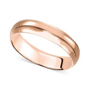 Macy's 14k Gold 4mm Wedding Band  - Rose Gold