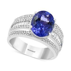 Effy Collection Effy Tanzanite (3-3/8 ct. t.w.) & Diamond (5/8 ct. t.w.) Ring in 14k White Gold  - Tanzanite