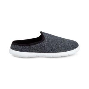 Isotoner Signature Isotoner Men's Zenz Sport Knit Slippers  - Black Heathered