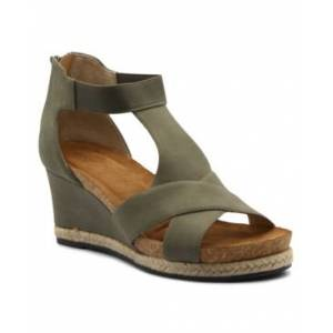 Adrienne Vittadini Women's Theresa Wedge Sandals Women's Shoes  - Khaki