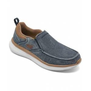 Skechers Men's Delson 2.0 Larwin Slip-On Casual Sneakers from Finish Line  - NAVY