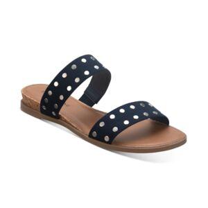 Sun + Stone Easten Slide Sandals, Created for Macy's Women's Shoes  - Navy Stud