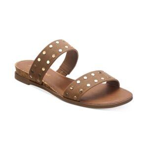 Sun + Stone Easten Slide Sandals, Created for Macy's Women's Shoes  - Tan Stud