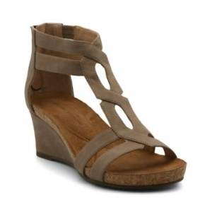 Adrienne Vittadini Tribute Wedge Sandals Women's Shoes  - Taupe