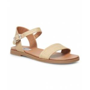 Steve Madden Dina Flat Sandals  - Natural Raffia