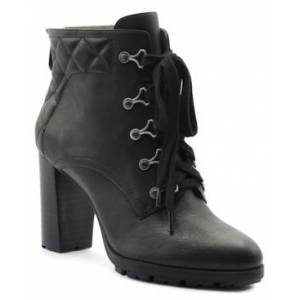 Adrienne Vittadini Trailer Lace Up Booties Women's Shoes  - Black