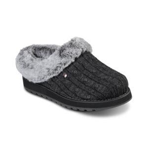 Skechers Women's Bobs Keepsakes - Ice Angel Faux Fur Slippers from Finish Line  - Charcoal