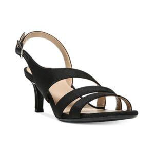 Naturalizer Taimi Dress Sandals Women's Shoes  - Black Fabric
